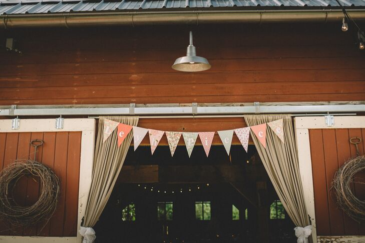 Colorful Bunting Barn Decor