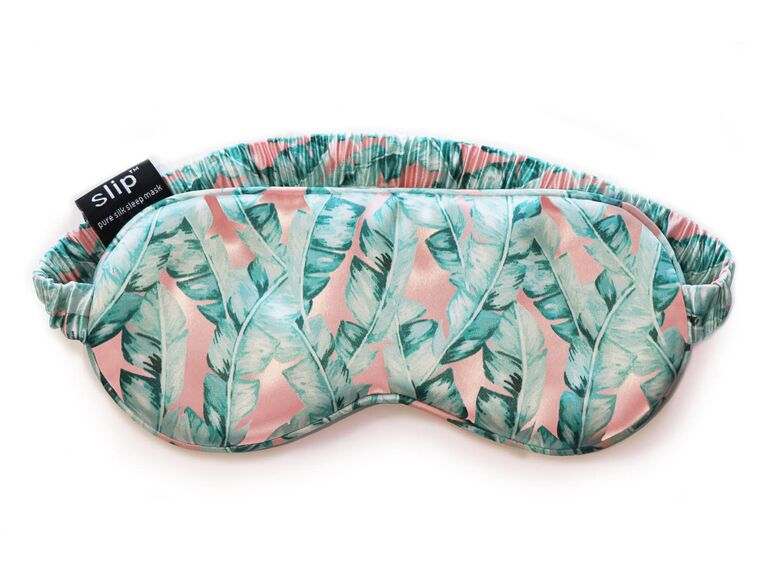 Tropical print silk sleep mask gift for sister-in-law