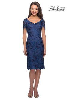 La Femme Evening 25522 Blue Mother Of The Bride Dress