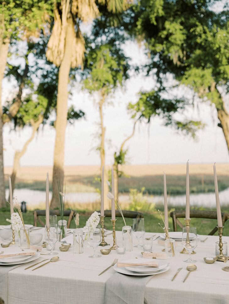 Ethereal Reception Table at Private Estate in Savannah, Georgia