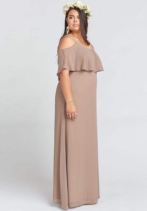 3078a744cf807 Show Me Your Mumu Caitlin Ruffle Maxi Dress - Dune Chiffon Scoop Bridesmaid  Dress