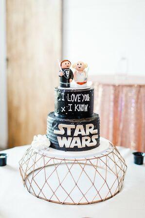 Black Star-Wars-Themed Groom's Cake