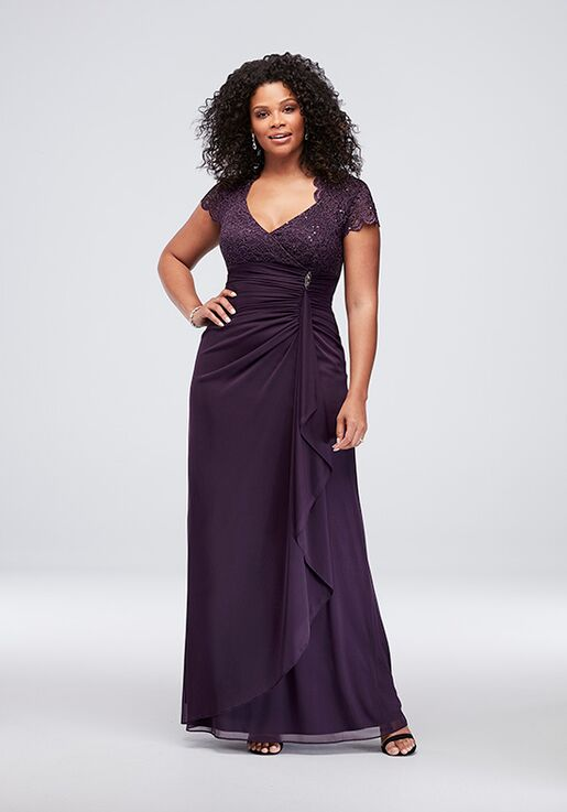 acc806b7c6b David s Bridal Mother of the Bride A18436W Purple Mother Of The Bride Dress