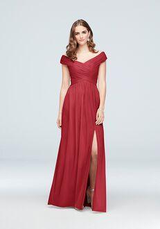 26325d8df62 David s Bridal Collection David s Bridal Style F19951 Off the Shoulder  Bridesmaid Dress