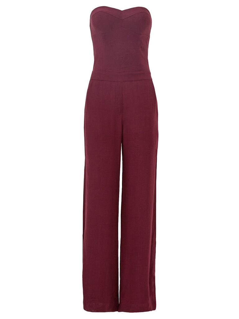 strapless mulberry jumpsuit