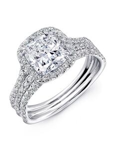 Uneek Fine Jewelry Unique Cushion Cut Engagement Ring