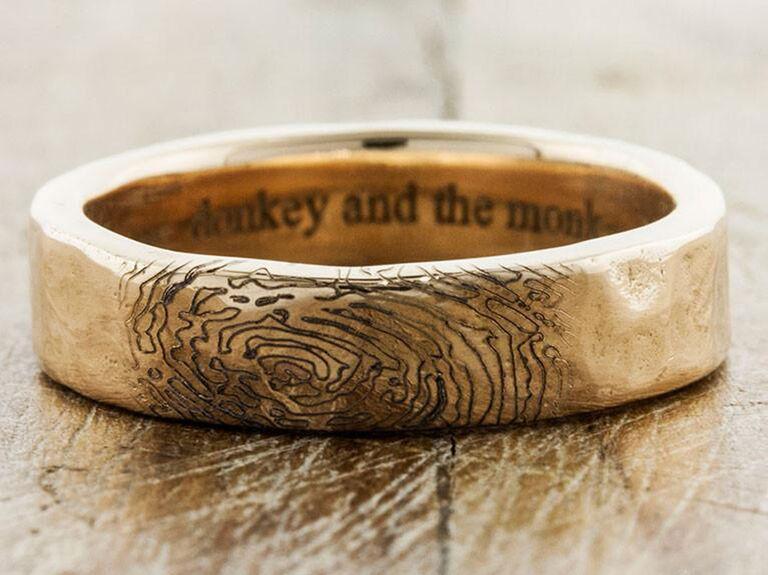 Ken and Dana Design Lito fingerprint ring