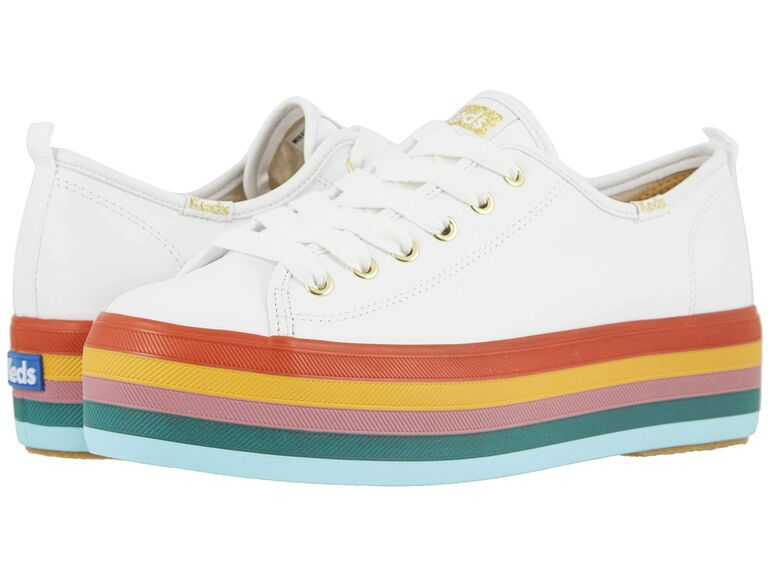 Rainbow wedding sneakers