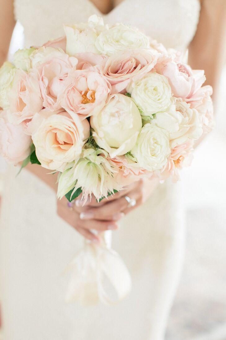 Romantic Blush Rose and Ranunculus Bouquet
