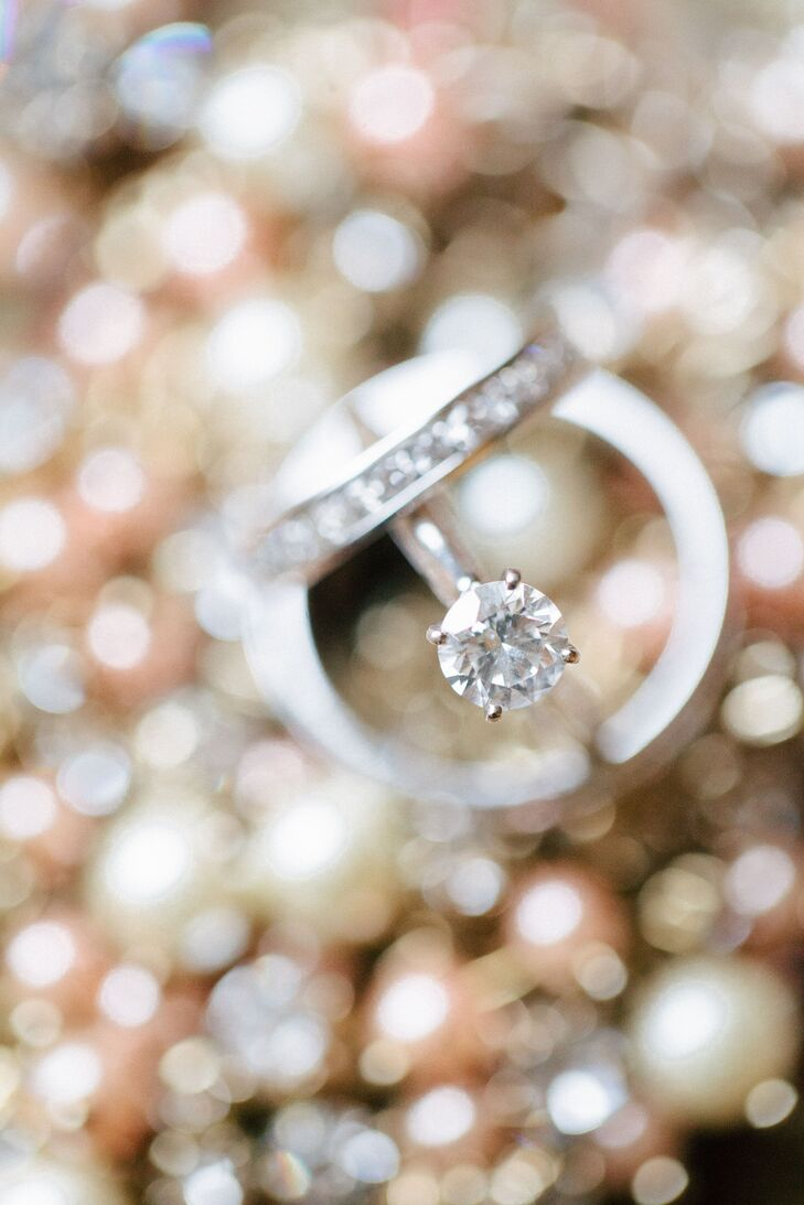 Classic Round-Cut Diamond Ring and Encrusted Band