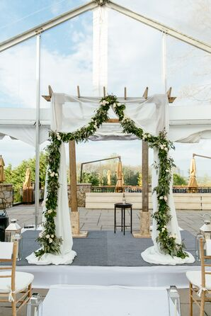 Eucalyptus Garland-Accented Wedding Arbor