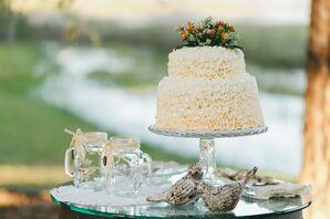 Orange Hypericum Berry-Topped Wedding Cake
