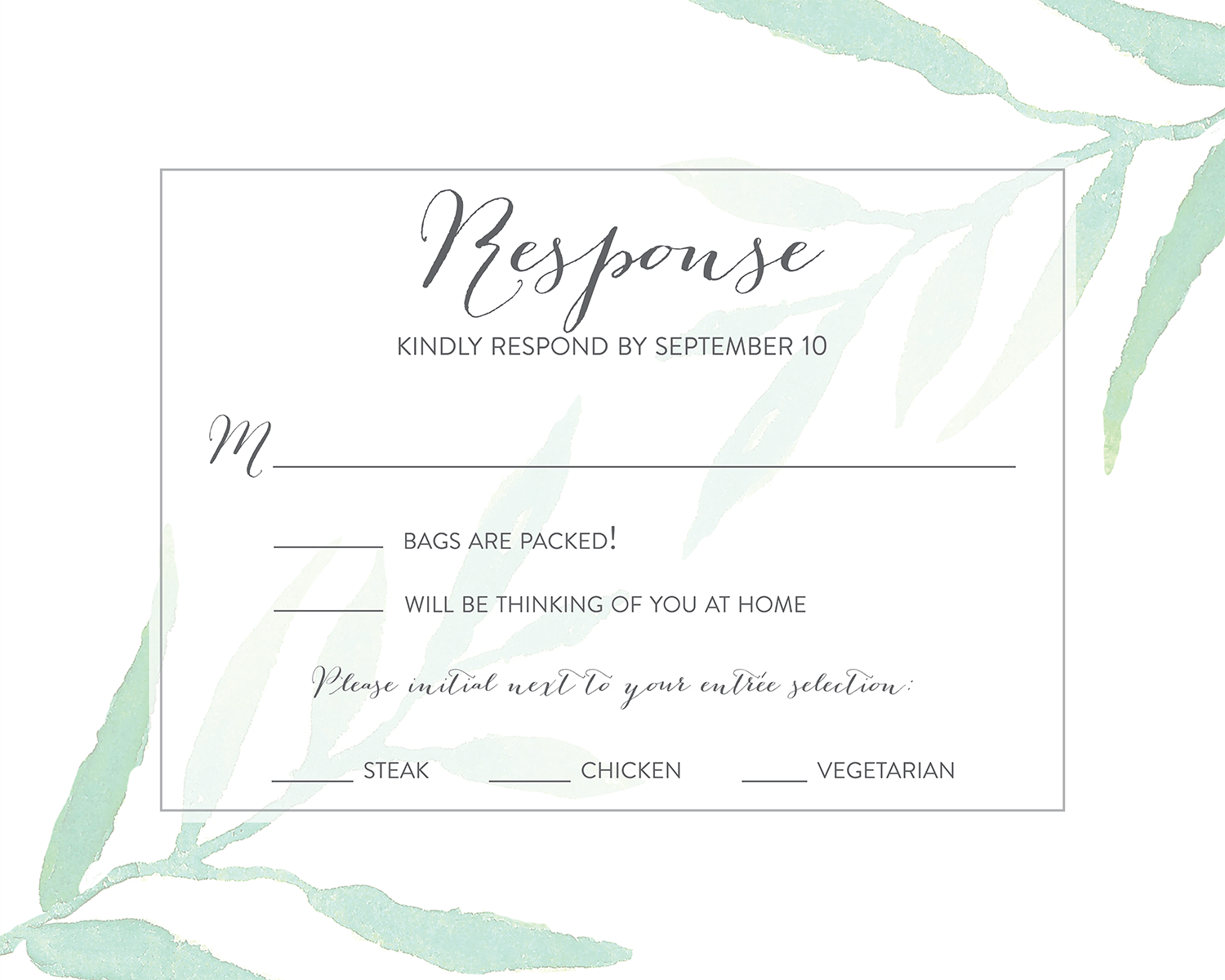 Rsvp message example