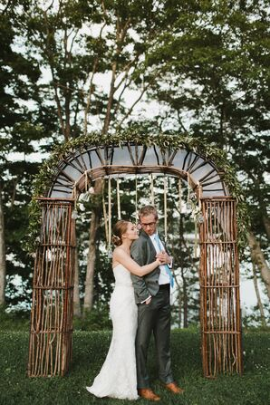 Custom-Designed Vine Wedding Arbor