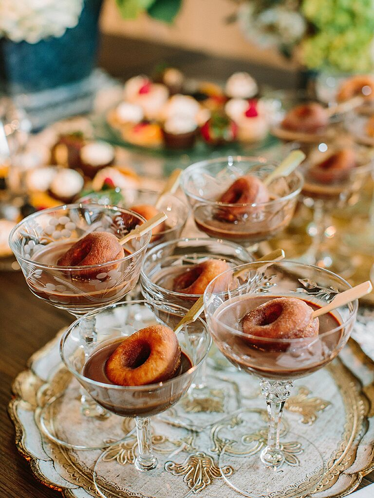 Donut Stations For A Creative Wedding Reception Menu Idea
