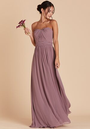 Birdy Grey Grace Convertible Dress in Dark Mauve Strapless Bridesmaid Dress
