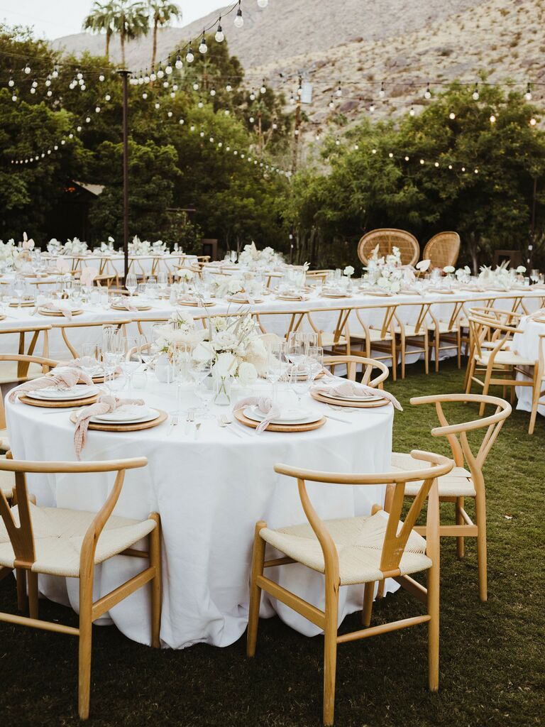 Fall wedding ideas all white reception