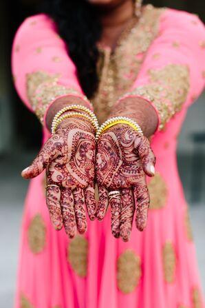 Indian Henna Illustration of Couple