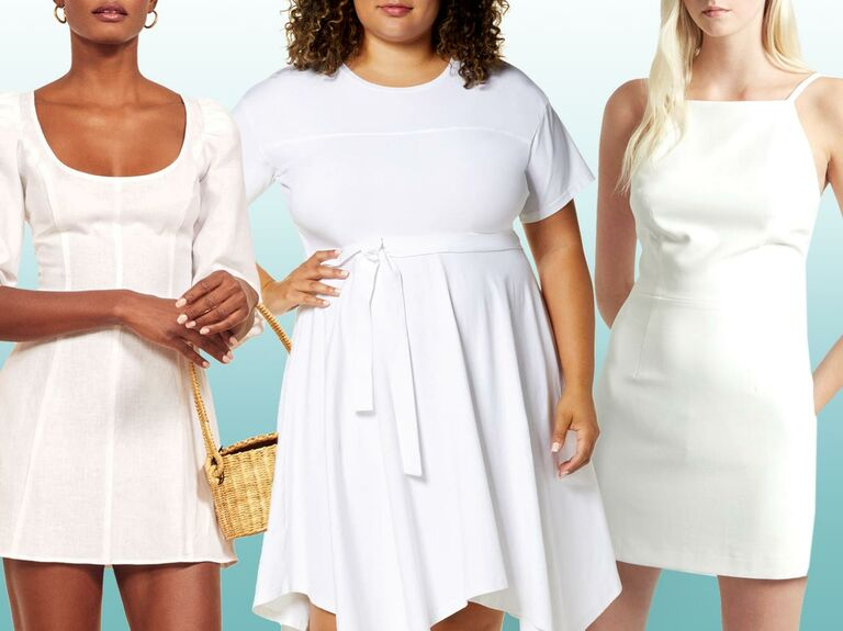 White Bachelorette Party Dresses for the Bride
