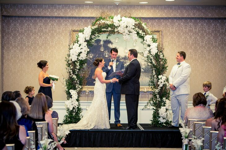 Garden-Style Wedding Arch With Orchids