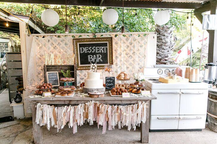 Whimsical Vintage-Inspired Dessert Bar