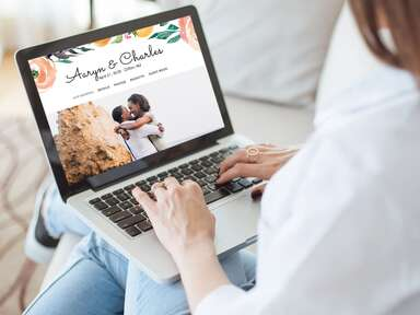 How and When to Share Your Wedding Website