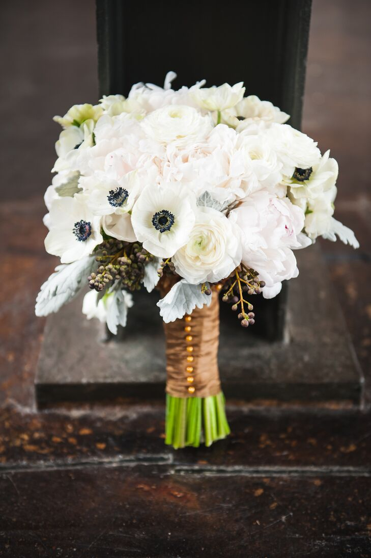 White Anemone and Ranunculus Bouquet