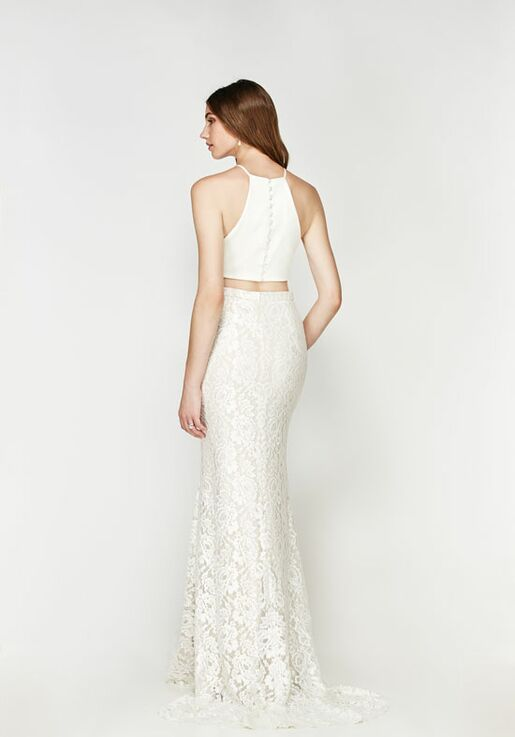 591aecfe0d3 Willowby by Watters Moravia Crop Top 56309   Bordeaux Skirt 56126 Mermaid  Wedding Dress