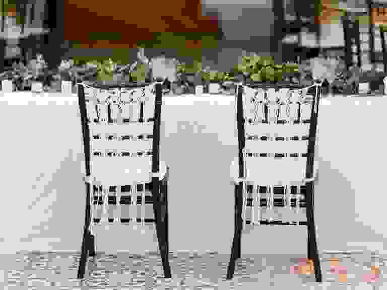 Woven Macramé Sweetheart Chair Decoration