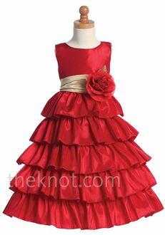Pink Princess BL203 Gold Flower Girl Dress