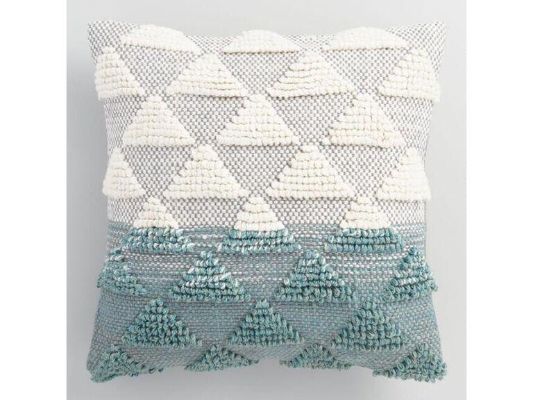 Outdoors jade throw pillow
