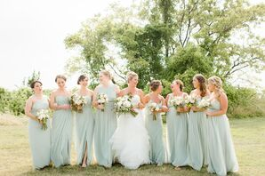Sage Chiffon Bridesmaid Dresses