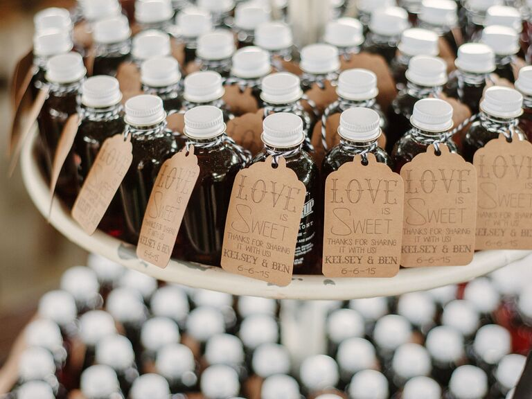 Maple syrup wedding favors - edible wedding favors