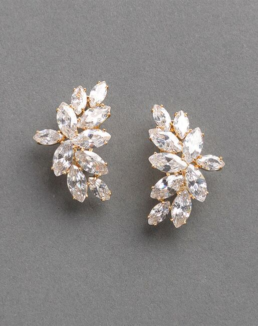 Dareth Colburn Farah CZ Earrings (JE-7082) Wedding Earrings photo
