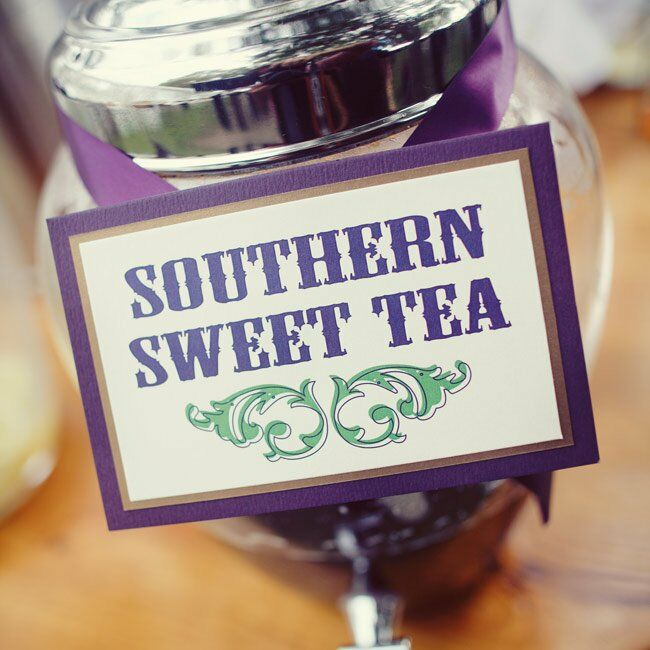 Guests stayed refreshed thanks to the sweet tea the couple served.