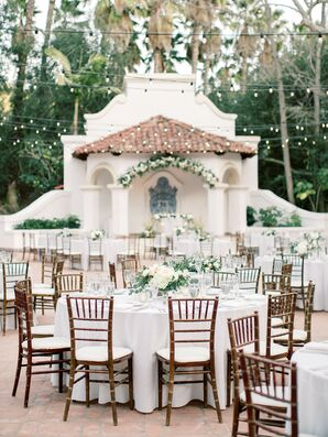 Outdoor Wedding Reception with Chiavari Chairs at Rancho Las Lomas in Silverado, California