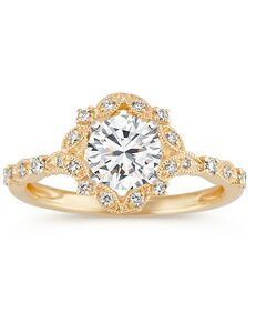 Shane Co. Vintage Oval Cut Engagement Ring
