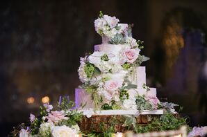Rustic Garden-Inspired Wedding Cake