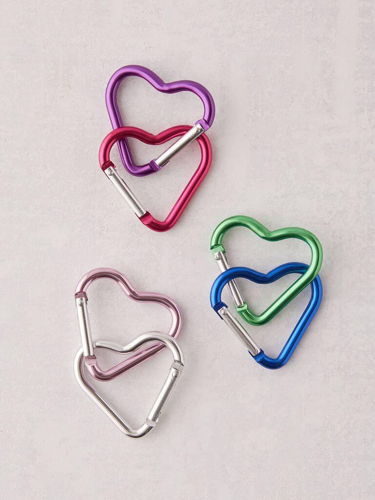Heart keychain bridal shower favors