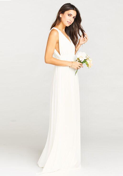 Show Me Your Mumu Ava Maxi Dress Wedding Cake Chiffon Bridesmaid