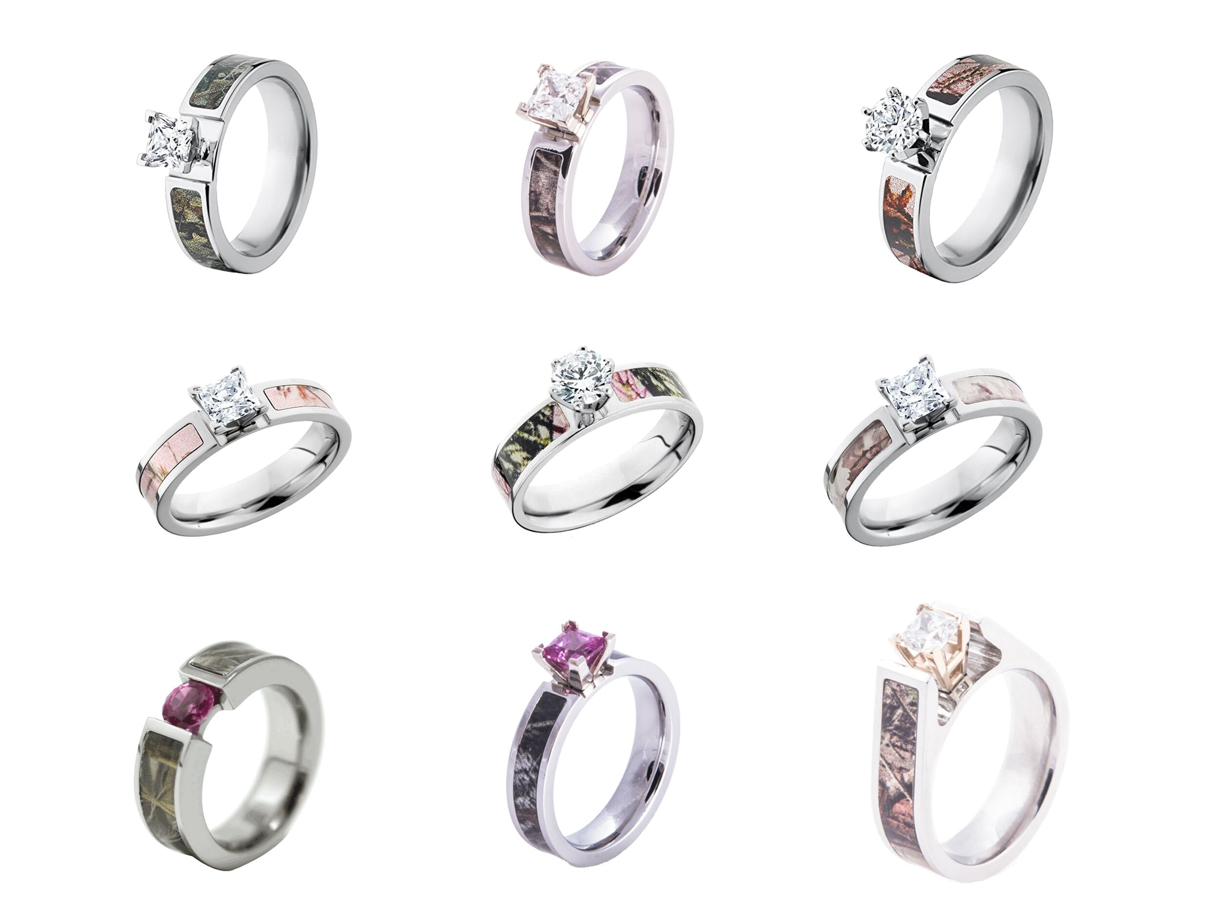 Camo Wedding Rings Camo Engagement Rings