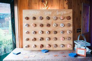 Rustic Wood Panel Doughnut Display