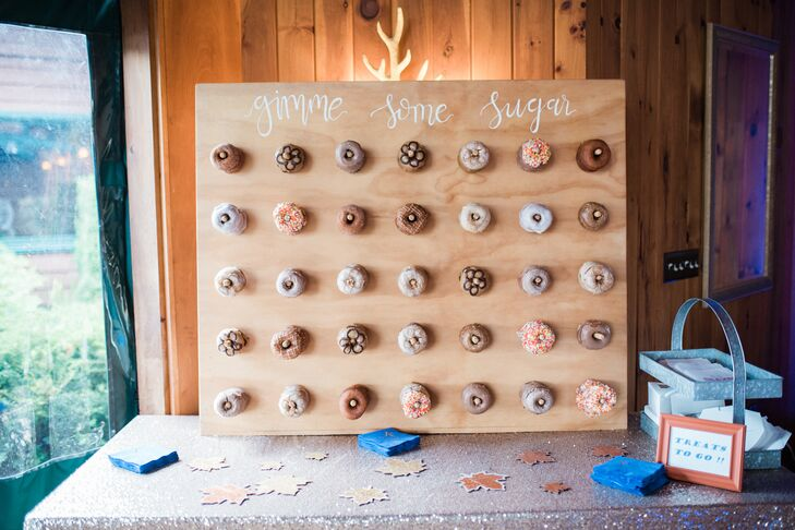 Rustic Wood Panel Doughnut Display