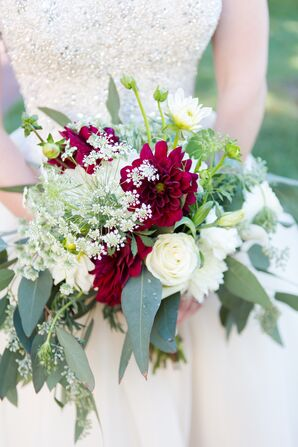 Queen Anne's Lace and Dahlia Bouquet