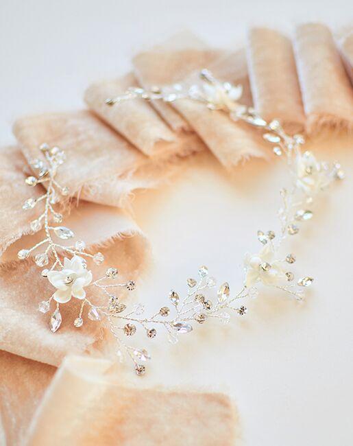 Dareth Colburn Leah Crystal Hair Vine (TI-3364) Gold, Silver Headband