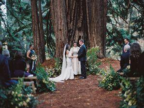 Wedding Ceremony Among Redwood Trees at Santa Lucia Preserve in Carmel, California