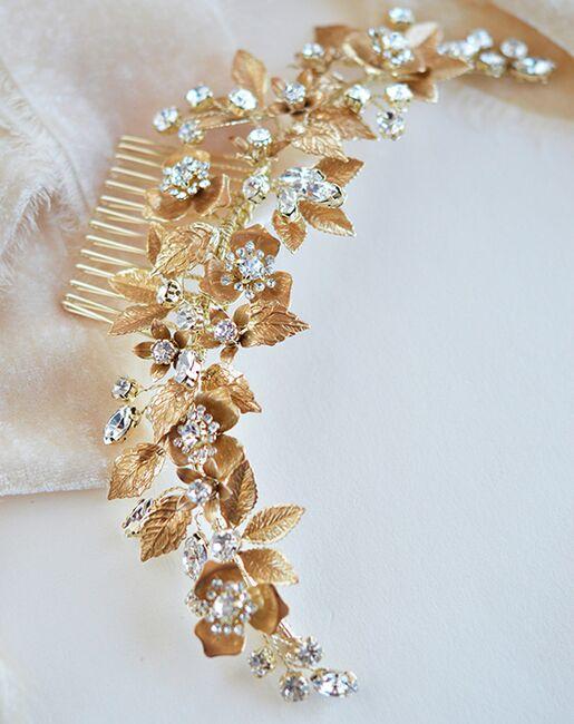 Dareth Colburn Esme Floral Bridal Comb (TC-2430) Gold, Silver Pins, Combs + Clip