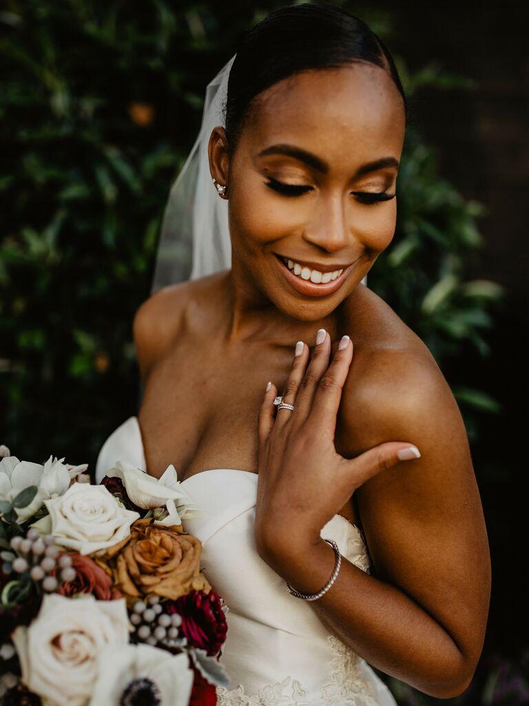wedding makeup golden eyeshadow