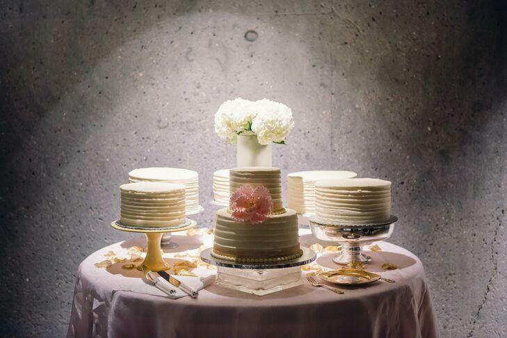 White Buttercream Single Tier Cake Display
