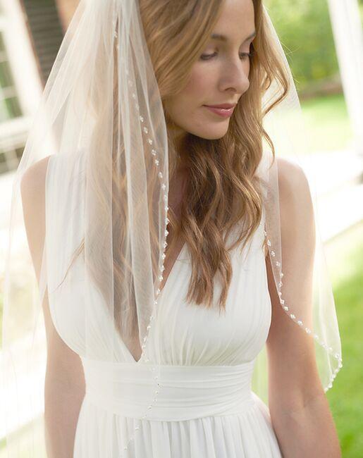 Dareth Colburn Pearl & Swarovski Crystal Bridal Veil (VB-5086) Ivory, White Veil